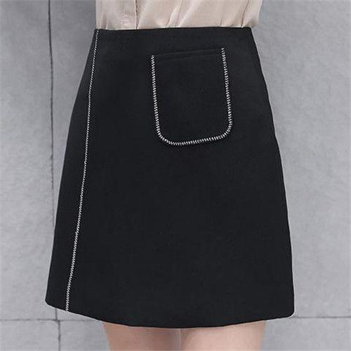 高腰显瘦A字半身裙